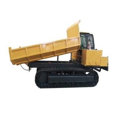 10噸(dun)大馬力自卸後翻履帶運輸車
